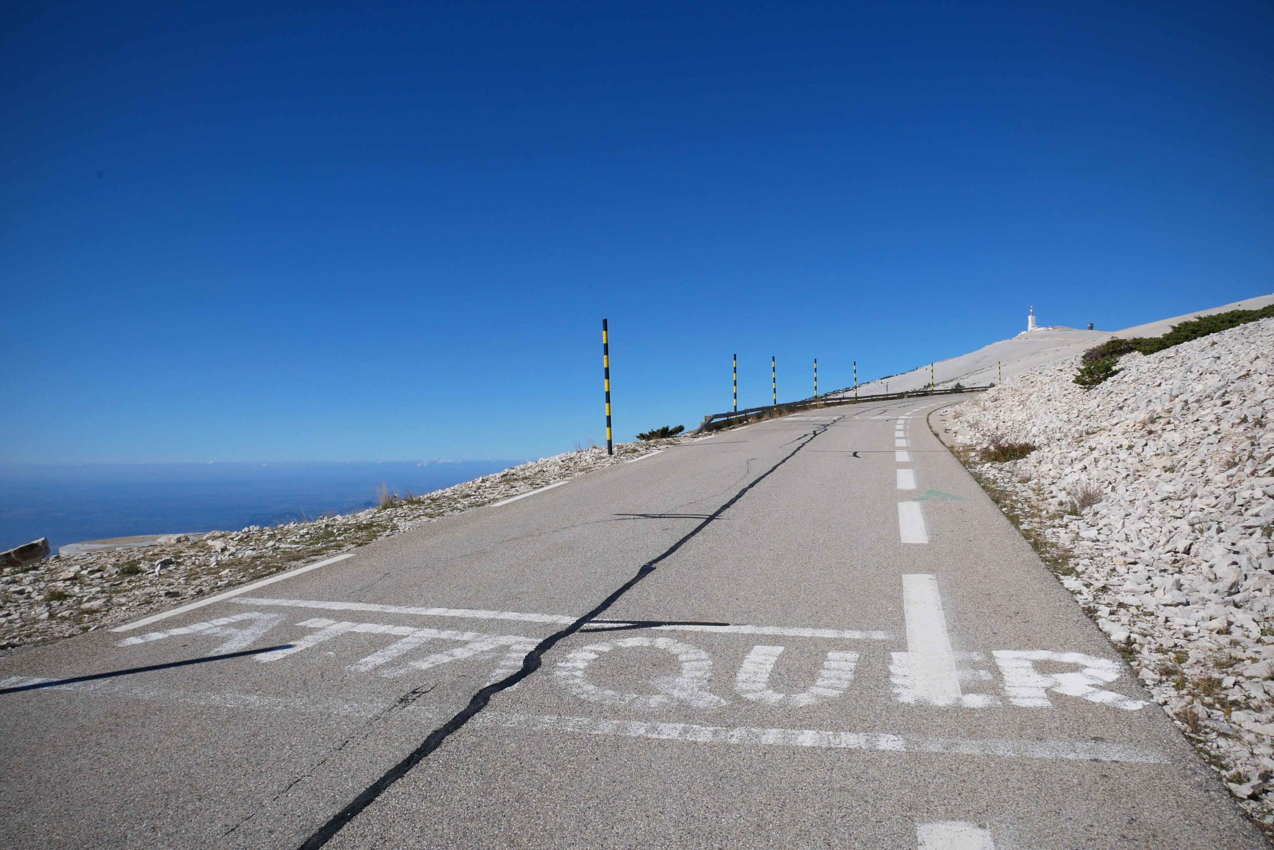ascension du ventoux à vélo